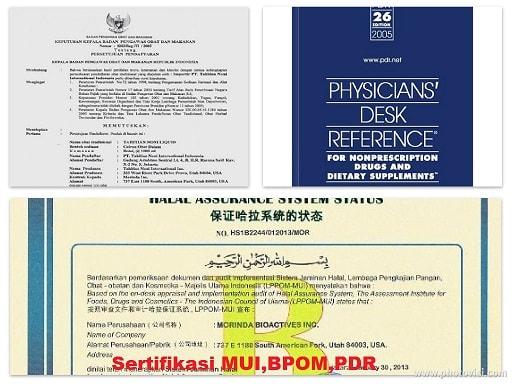 Sertifikasi Jus Tahitian Noni dari BPOM, MUI dan PDR
